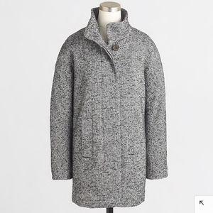 J. Crew Wool Blend Tweed Car Coat Sz14